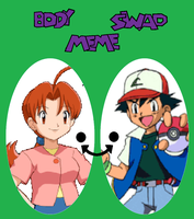 Ash Delia swap by TheWalrusclown
