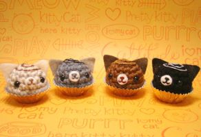 Amigurumi Kitty Cat bon bons by amigurumikingdom