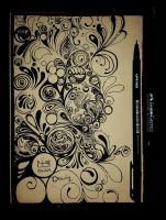 Pencil Drawing 24- My Sketch book's Cover- by NasiK2424