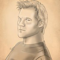 Chris Jericho, traditional drawing. by Roselyne777
