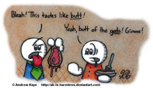 Butt Of The Gods by AK-Is-Harmless