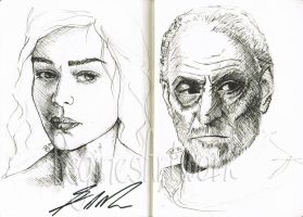 GoT Sketches - Signed by George R. R. Martin by ReginesArtwork