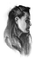 missy profile compressed charcoal by cakeypigdog
