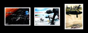 Star Wars Sketch Cards III by AstroVisionary