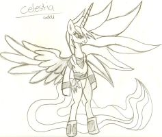 Princess Celestia as Goku! by lilsonic1355