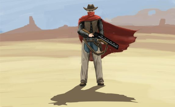 Desert Outlaw Character Concept Piece by cris1138