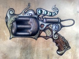 Steampunk gunnie by eatmysik