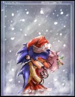 -Sonamy- A Kiss From Santa by AllesiaTheHedge