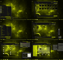 windows 7 theme yellow line by tono3022