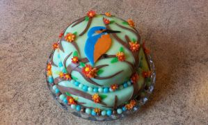 Kingfisher Birthday Cake by LauraBakery