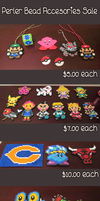 Perler Bead Accessories Sale/Commission by Checkz3