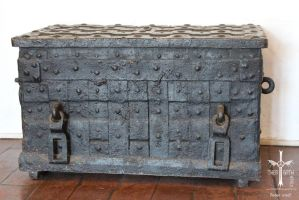 Old Iron Chest by TheoGothStock