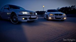 BMW E46 and BMW E90 by PhotoForever88