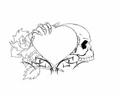Heart Tattoo Design finished by Nomad55