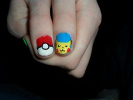 Pikachu and Poke ball by JennyBean4u