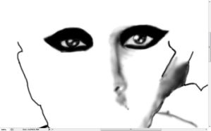Lady GaGa drawing 9 CS3 WIP by DCProductions223