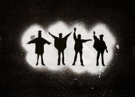 Beatles Stencil by CyranoInk