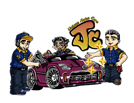Unique Auto Care JC Logo (RLF Commission) by Sakura-Sweet-Cherry