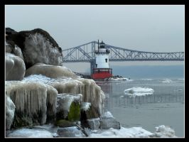 SleepyHollow Lighthouse winter by cove314