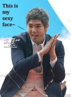 Kangin's sexy face by PirateIzzy