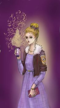Girl with coffee by Fire-Penguin17