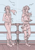 Lara on the Boat WIP by LexiGold