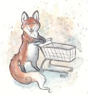 Shopping foxy by Kitsune-Seven