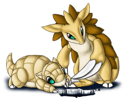 Sandshrew and evo by AFrozenHeart2