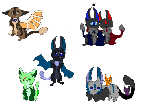 Catbat point adopts (2/5 sold) (rules updated) by FireBurstCat