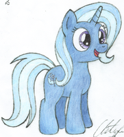 Happy Little Trixie Sketch by wildtiel