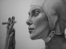 Keira Knightley Pencil drawing 4 by Duselmonster