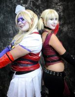 The Arkham Harley's! by RaindropCosplay
