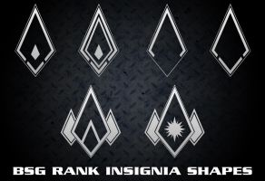 BSG Rank Pins Set 2 by Retoucher07030