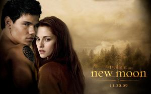 Newmoon Wallpaper Jacob Bella by twibritt897