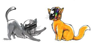 Daft Kitties by CatusSnake