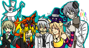 Soul Eater - iScribble Collab by KumoriDragon