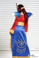 Lina Inverse from DotA back view by jnalye