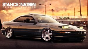 BMW 850 csi stance by rookiejeno