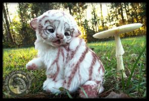 SOLD HAND MADE Baby White Tiger! by Wood-Splitter-Lee
