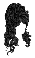 Romantic Hair 2 Black by hellonlegs