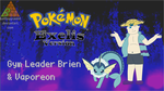 PKMN Exelis Wallpaper - Leader Brien/Vaporeon by BattlePyramid