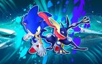 Sonic The Hedgehog And Greninja - Wallpaper by SonicTheHedgehogBG