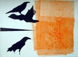 Two Crows I by Liko