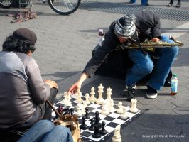 JUMBO Chess at 14street NYC by WendyFae