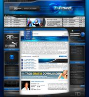 Blue Clandesign by razr-designs