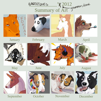 2012 Art Summary by earthytones