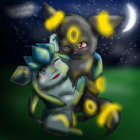 Glacen X  Umbreon by blackmuttofdoom