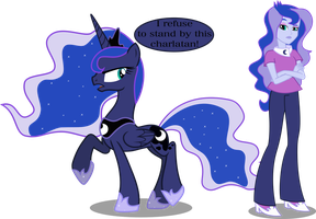 Princess Luna and Vice Principal Luna by Vector-Brony