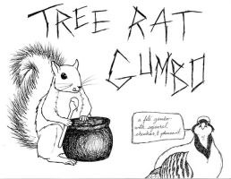 Tree Rat Gumbo sign for BeastFeast by plaidsandstripes