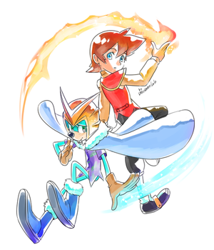 Fire and Ice by Drawloverlala